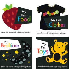 My First Shiny High-Contrast Set of 4 (Board Book)