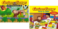 Adventures With Curious George Set of 2 (Hardcover)