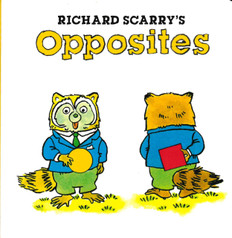 Richard Scarry's Opposites (Mini Board Book) 3.5 x 3.5 x .4 inches