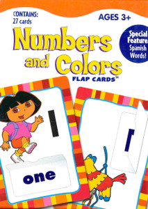 Numbers and Colors Bilingual Flap Cards: Dora the Explorer