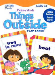 Things Outside Bilingual Flap Cards: Dora the Explorer