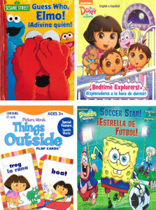 Reading Fun with Popular Characters!  Bilingual Set of 4