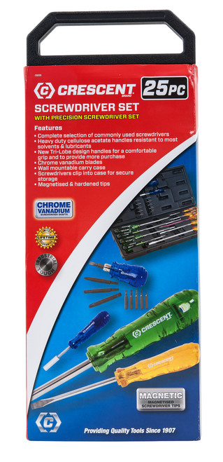 TriLobe Acetate Handle Screwdrivers 25pc