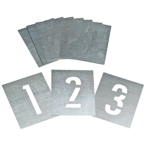 ZINC NUMBER STENCIL SET 75mm
