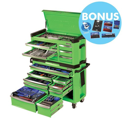 Contour Tool Kit 517pce 17 Drawer Green