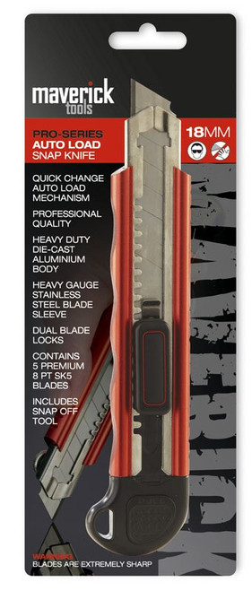 Heavy Duty Auto Lock Knife 18mm