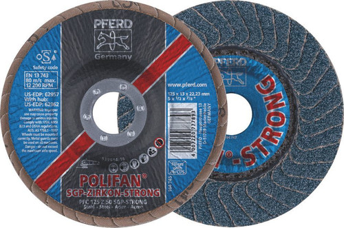 "Polifan Strong Flap Disc 5"" 50Grit Pferd"