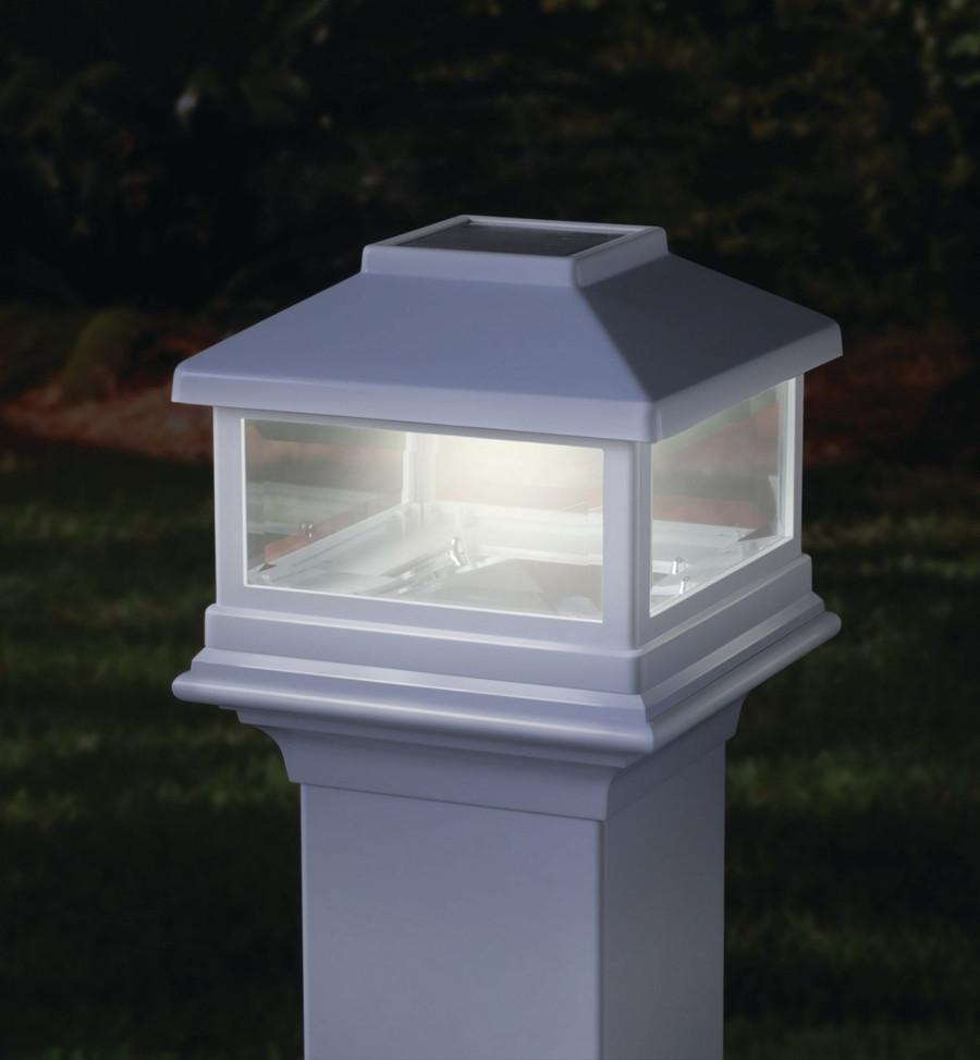 Deckorators Solar Post Cap / White