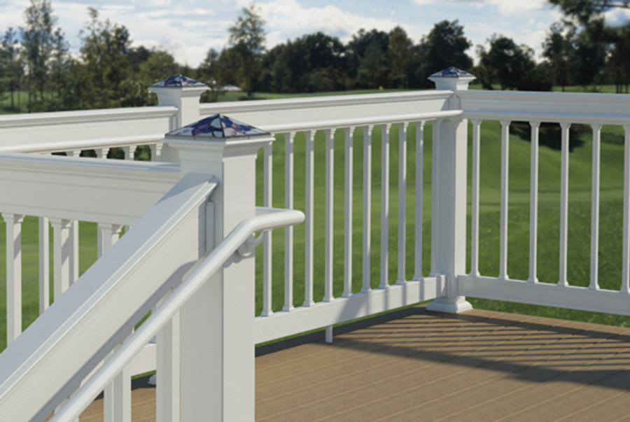 secondary handrail in white