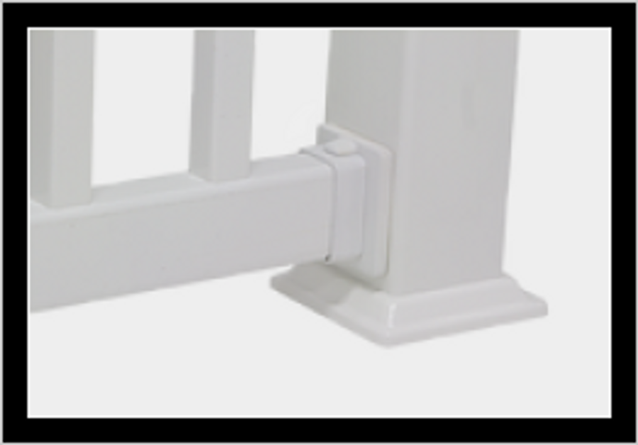 Top Rail Connector / White