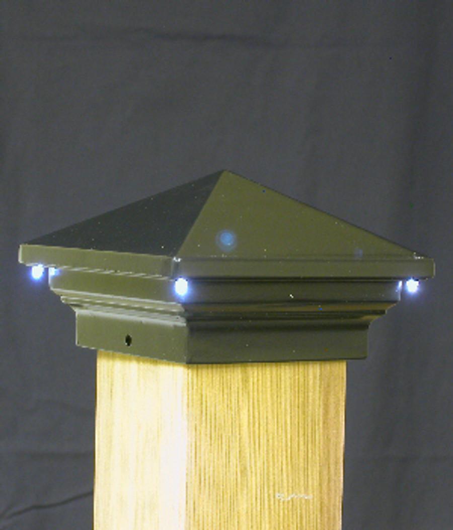 LED Post Cap / Eclipse / Bronze