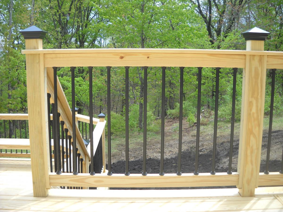 Metal Deck Spindles Over Pressure Treated Pine Deck