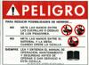 420148: Safety Sign: Shear - Danger, Reduce Injury (Spanish)