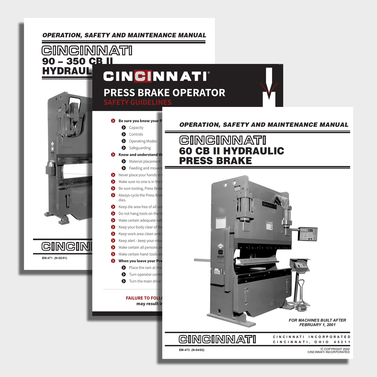cb ii cnc press brake manual bundle cincinnati incorporated rh ci online e ci com Cincinnati MaxForm Press Brake Cincinnati Press Brake Repair