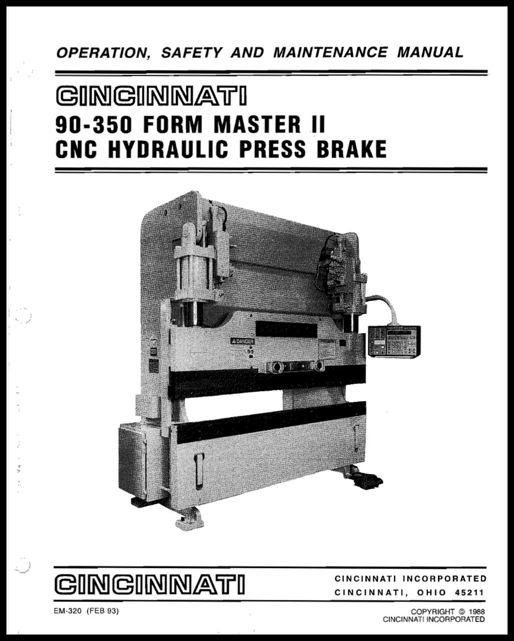 EM-320 (R-02-93) 90-350 FMII Hydraulic Press