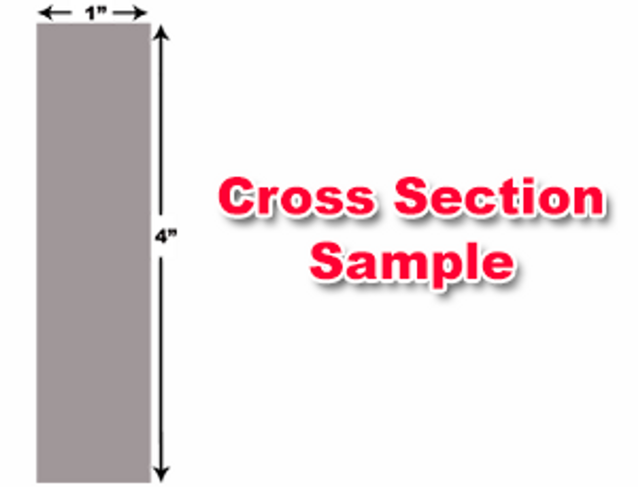 "Accurshear Shear Knives - 148"" Length, 4"" x 1"" Cross Section (239128) Type B"