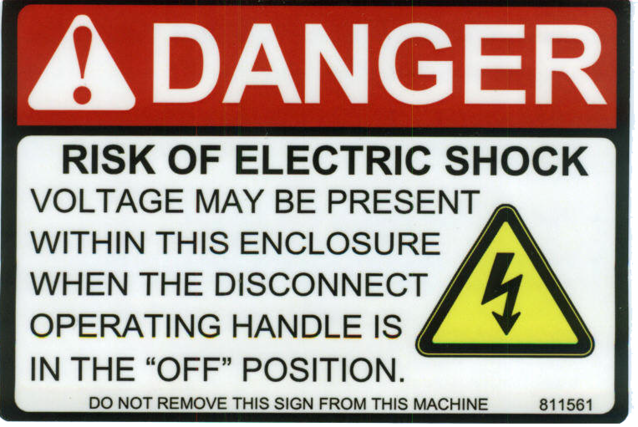 Safety Sign: Danger Voltage May Be Present (English)