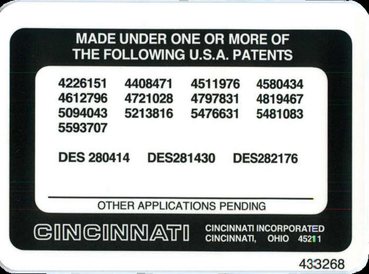 Patents 433268