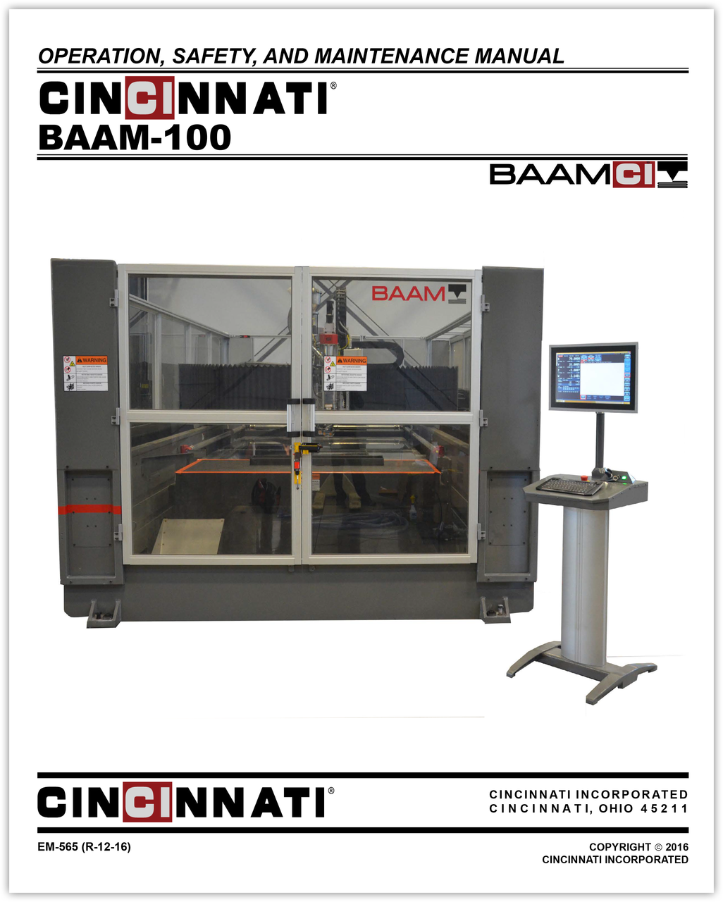 EM-565 (R-12-16) BAAM 100_Operation, Safety and Maintenance Manual