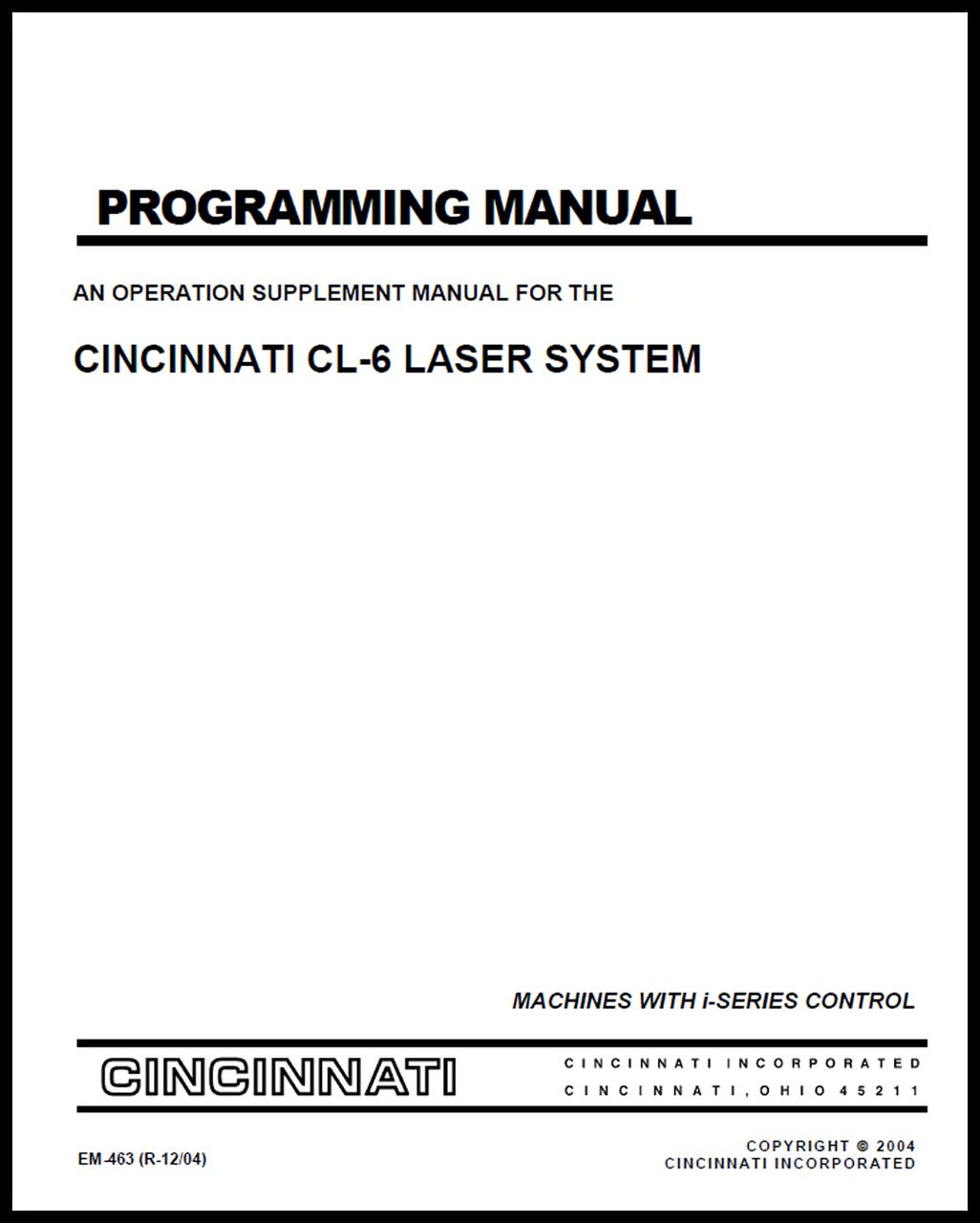 EM-463 (R-12-04) Programming Manual - An Operation Supplement