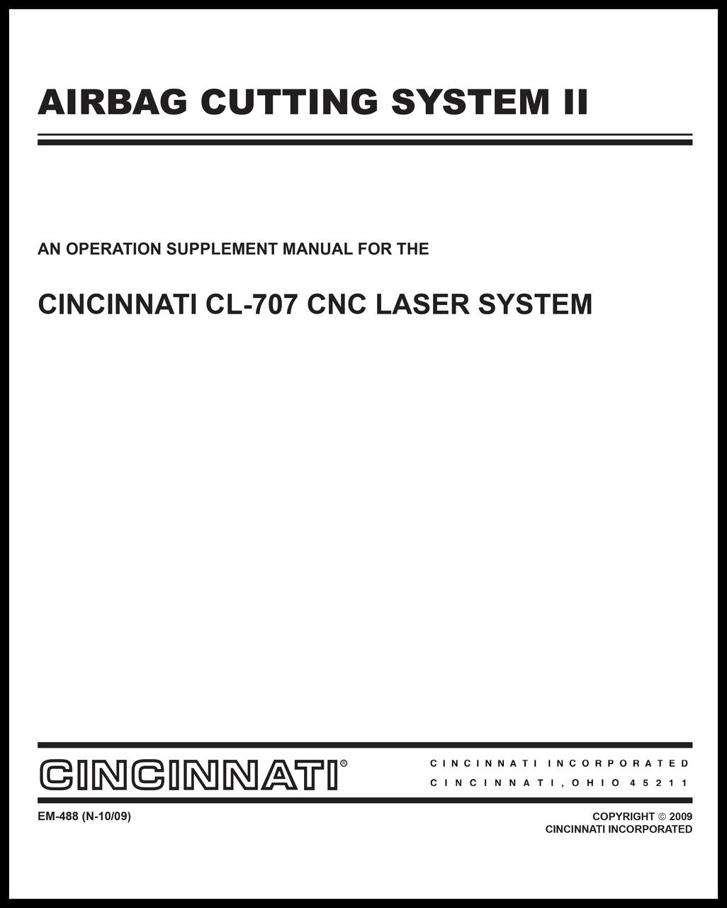 EM-488 (N-10-09) Airbag Cutting System II