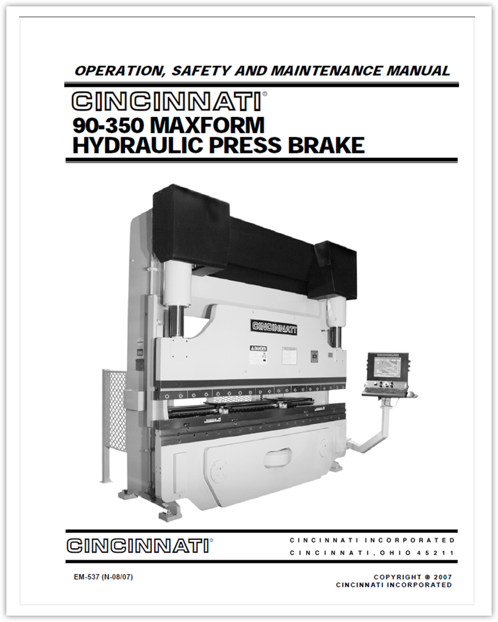 ... manual for Array - 90 350 maxform hydraulic press brake operation  safety and rh ci online e ci