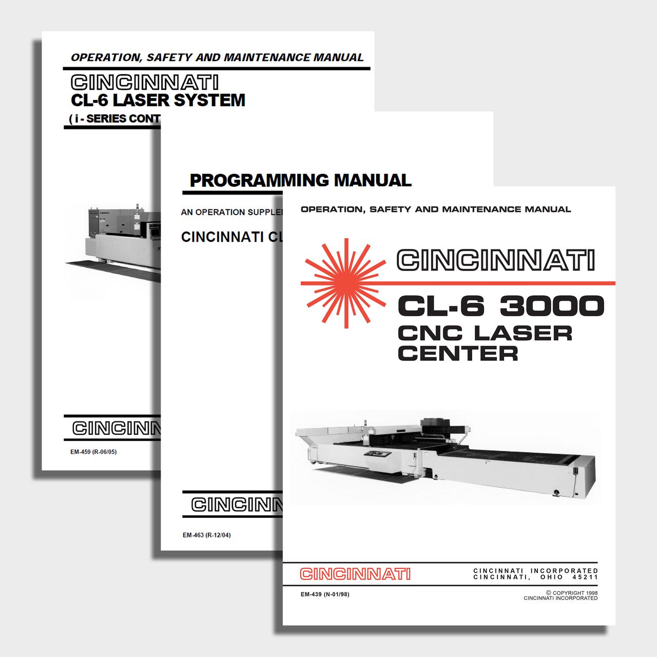 CL-6 CNC Laser Center Manual Bundle