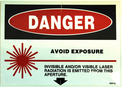 Safety Sign: Laser - Danger, Avoid Exposure (English)