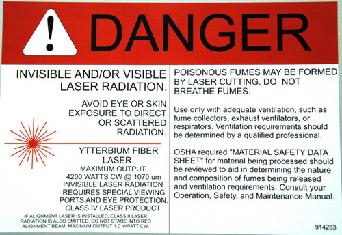 Safety Sign: Laser (Fiber) - Danger (English)