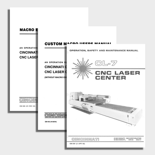 CL7 CNC Laser Center Manual Bundle
