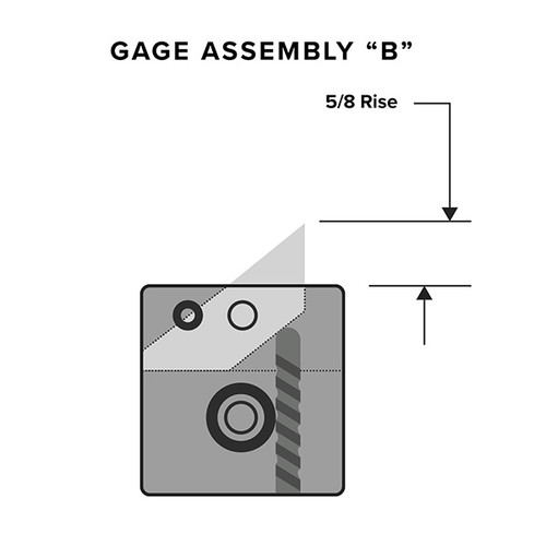 Flip Gage (5/8 Rise)