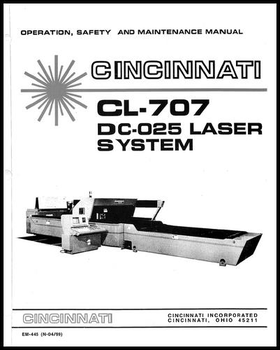 EM-445 (N-04-99) CL-707 DC-025 Laser System
