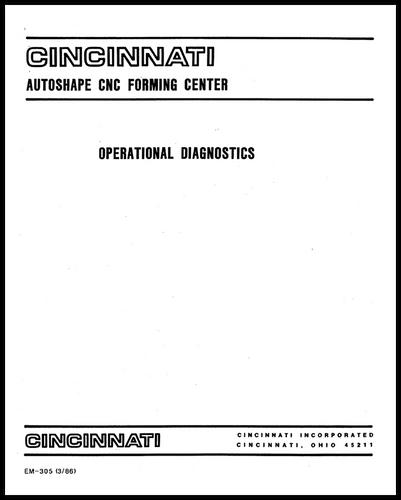 EM-305 (03-86) AUTOSHAPE Operational Diagnostics