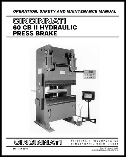 cincinnati incorporated press brake owners manuals rh ci online e ci com Cincinnati Press Brake AutoForm 230 Pump Cincinnati Press Brake Book