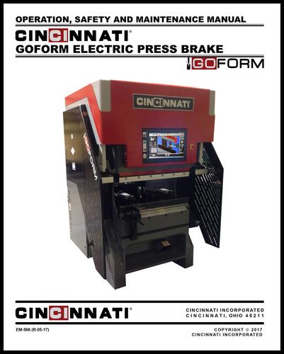 EM-566 (R-05-17) GOFORM Electric Press Brake_Operation, Safety and Maintenance Manual