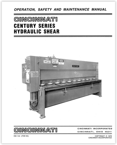 EM-144 Century Series Operation, Safety, and Maintenance Manual