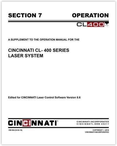 EM-564 (N-04-18) CL-400 Laser System_Section 7_OSM