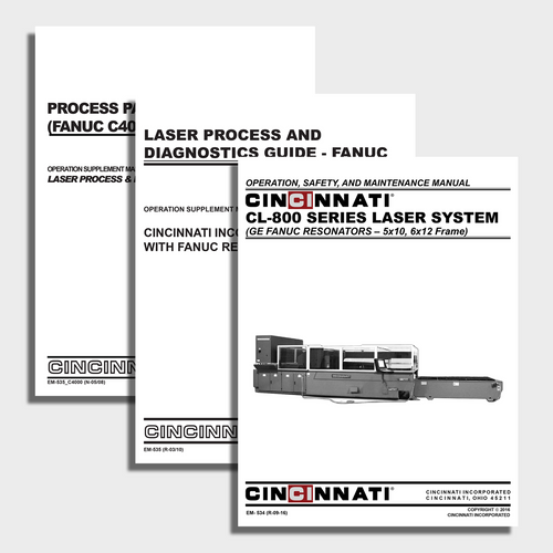 CL-800 CNC Laser Center Manual Bundle