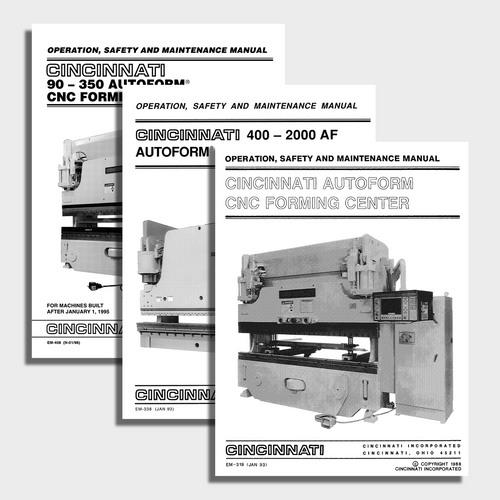 Autoform CNC Press Brake Manual Bundle