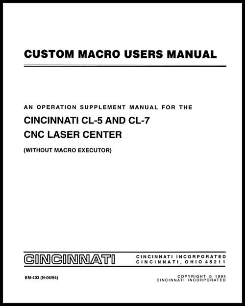 macro executor an operation supplement manual for the cincinnati rh ci online e ci com Motoman Programming Manual Fanuc Programming Software