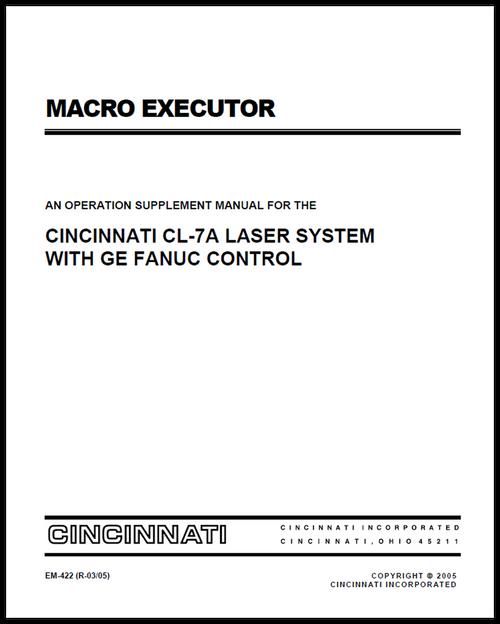 macro executor an operation supplement manual for the cincinnati rh ci online e ci com Fanuc Programming Software Fanuc Program Examples