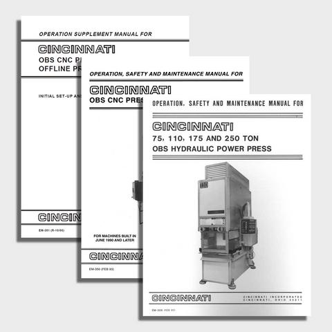 Obs Press Manual Bundle Cincinnati Incorporated