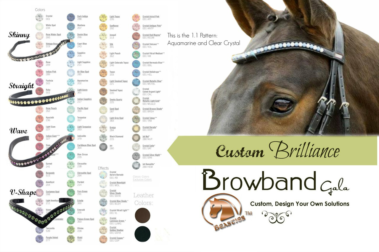 how to make browbands with bling