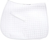 White Dressage Saddle Pads | Pink Equine