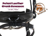 "Patent Leather Crank Flash Noseband by Beasties™ Horse Tack Solutions.  Noseband is 1.5"" Wide."