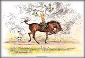 "Horse Card:  ""Mounted Aerobics"" #JT05"