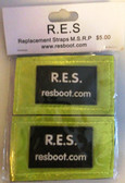 Velcro Straps, REFELECTIVE YELLOW BLACK (Package of 2) for RES Boot Products