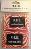 Velcro Straps, ZEBRA ORANGE (Package of 2) for RES Boot Products