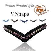 "Brilliance V Shaped Browband | Black | Size: Cob/Horse (15.75"")"