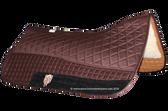 Dark Chocolate Brown Western Saddle Pad